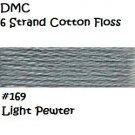 DMC 6 Strnd Cotton Embroidery Floss Light Pewter 169