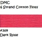 DMC 6 Strnd Cotton Embroidery Floss Dark Rose 309