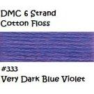DMC 6 Strnd Cotton Embroidery Floss Vry Dk Blue Violet 333