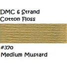 DMC 6 Strnd Cotton Embroidery Floss Medium Mustard 370