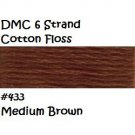DMC 6 Strnd Cotton Embroidery Floss Medium Brown 433