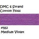 DMC 6 Strnd Cotton Embroidery Floss Medium Violet 552