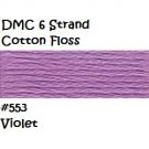 DMC 6 Strnd Cotton Embroidery Floss Violet 553
