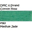DMC 6 Strnd Cotton Embroidery Floss Medium Jade 562