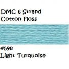 DMC 6 Strnd Cotton Embroidery Floss Light Turquoise 598