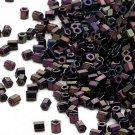 Miyuki #616 Gunmetal Purple Delica Hex 2Cut Seed Beads