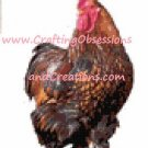 Golden Laced Cochin Cross Stitch Chart
