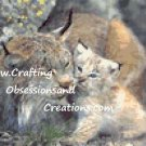 Lynx Mothers Camouflage Cross Stitch Chart