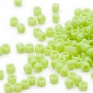 Miyuki #733 Opaque Lime Delica Round Seed Beads