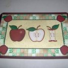 Apple A Day Apples Reversible Placemats Set of 6 NEW