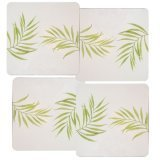 Corelle Bamboo Leaf Stovetop Burner Covers Gas NEW 4