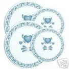 Corelle Blue Hearts Stovetop Burner Cover Set NEW