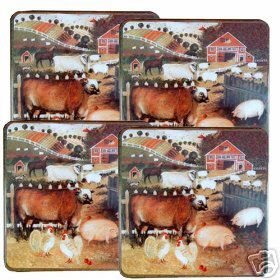 Barnyard Farm Cow/Pig Burner Covers Gas NEW 4 Rooster