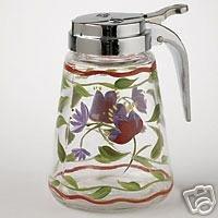 Pfaltzgraff Napoli Syrup Pourer Glass WOW NEW!!