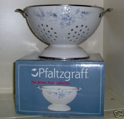 Pfaltzgraff Winter Frost 3 Qt Colander NEW in Box