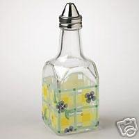 Pfaltzgraff Summer Breeze Glass Oil Cruet Set of 2 NEW