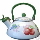 Corelle Chutney Whistling Teakettle 2.2 Qt New Enamel