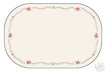 Corelle English Breakfast Placemats 6 NEW Deco Reverse
