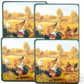 Roosters Farm Stovetop Burner Covers Gas NEW 4