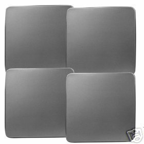 Stainless Steel Color Stovetop Burner Covers Gas NEW 4