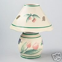Pfaltzgraff Garden Party Ceramic Lamp Votive NEW ds