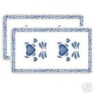 Corelle Blue Hearts Rectangular Burner Covers Grill