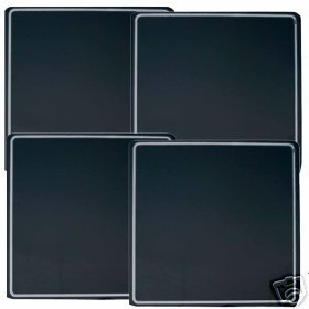 Black w/White Stripe Stovetop Burner Covers Gas NEW 4