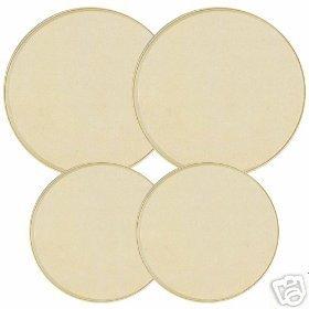 Almond Color Solid Stovetop Burner Cover Set of 4 NEW