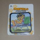 Garfield the Cat Coasters At the Beach Set of 4 NEW