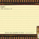 "Rooster Grande Recipe Cards 36 6""x4"" NEW Scripture"