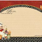 "Chef Recipe Cards Pack of 36 6""x4"" NEW Serve with love!"