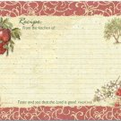"Orchard Apple Recipe Cards 36 6""x4"" NEW Proverbs 34:8"