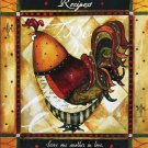 Rooster Grande Recipe Binder w/cards Scripture Verse