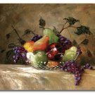 American Bounty Fruit Basket Cutting Board NEW Glass