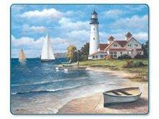 "Lighthouse Cutting Board 15"" x 11.5"" Glass Brand NEW"