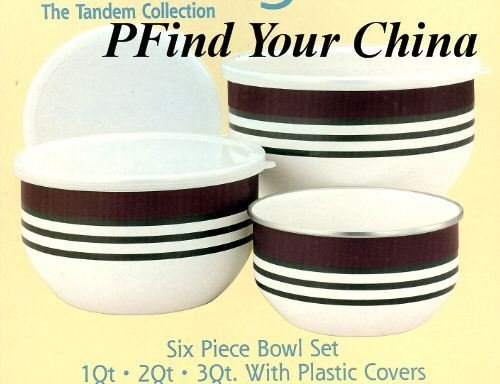 Pfaltzgraff Tandem 6 Pc Bowl Set Large NEW