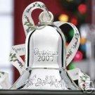 Pfaltzgraff Winterberry Silver Bell 2007 Ornament 1st E