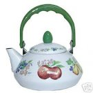 Corelle Chutney Teakettle 1.2 Quart Enamel Steel NEW