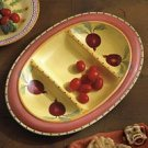Pfaltzgraff Pistoulet 3 Section Divided Dish NEW Tray
