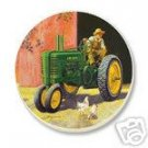 John Deere Tractor Coasters Nature Stone NEW 4