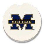 University of Michigan Car Coasters Set of 2 NEW Stone