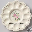 Pfaltzgraff Tea Rose Deviled Egg Plate Platter NEW