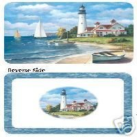 Lighthouse Seaside Reversible Placemats Set of 6 NEW