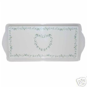 Corelle Country Cottage Handled Tidbit Tray NEW Melam