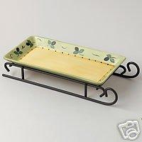 Pfaltzgraff Pistoulet Sled Tray Server NEW W/Wire Rack