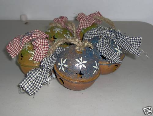 Dennis East Ball Bell Ornaments Country Set of 5 NEW