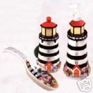 Lighthouse Series Soap Dispenser Scrubby Holder 3 Pc