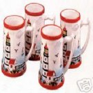 Lighthouse Series Ceramic Mugs Set of 4 NEW Coffee Tea