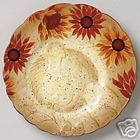 Pfaltzgraff Evening Sun Turkey Buffet Plates NEW