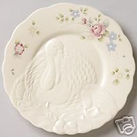 Pfaltzgraff Tea Rose Turkey Buffet Plate NEW Stoneware